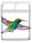 Broad Billed Hummingbird Duvet Cover by Amy Kirkpatrick