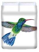 Broadbilled Fan Tail Hummingbird Duvet Cover by Amy Kirkpatrick