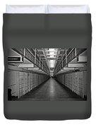 Broadway Walkway In Alcatraz Prison Duvet Cover by RicardMN Photography