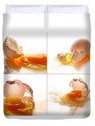 Broken Chicken Eggs Duvet Cover