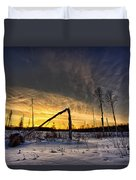 Broken Sustainable Forest Management Duvet Cover