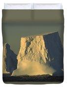 Broken Tabular Icebergs Antarctica Duvet Cover