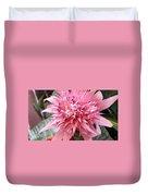 Bromeliad Close Up Pink Duvet Cover