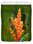 Bromeliad Flower Duvet Cover