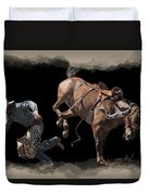 Bronco Busted Duvet Cover by Daniel Hagerman