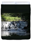 Bronx River Waterfall Duvet Cover by John Telfer