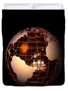 Bronze Globe... Duvet Cover