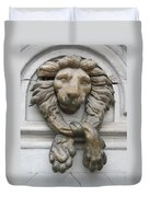 Bronze Lion Duvet Cover