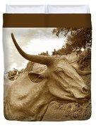 Bronze Longhorn Duvet Cover