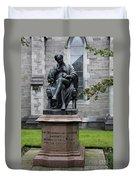 Bronze Statue Of Sir Benjamin Lee Guinness  Duvet Cover