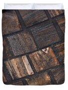 Bronze Tile Squares Duvet Cover