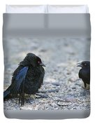 Bronzed Cowbird Display Duvet Cover