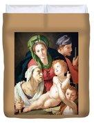 Bronzino's The Holy Family Duvet Cover