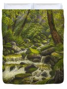 Brook In The Forest Duvet Cover