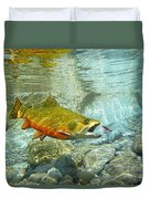 Brook Trout And Silver Doctor Duvet Cover