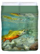 Brookie With Wet Fly Duvet Cover