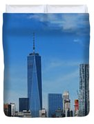 Brooklyn Bridge And Lower Manhattan Duvet Cover