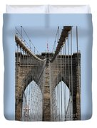 Brooklyn Bridge Cables Nyc Duvet Cover