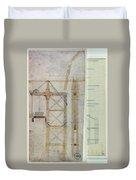 Brooklyn Bridge: Diagram Duvet Cover