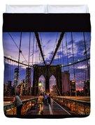 Brooklyn Bridge Evening Duvet Cover
