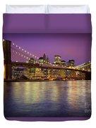 Brooklyn Bridge Duvet Cover by Inge Johnsson