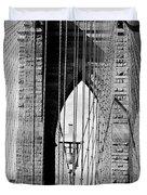 Brooklyn Bridge New York City Usa Duvet Cover