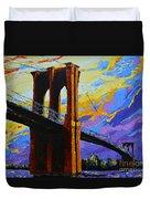 Brooklyn Bridge New York Landmark Duvet Cover