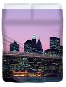 Brooklyn Bridge New York Ny Usa Duvet Cover