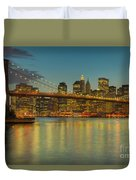 Brooklyn Bridge Twilight Duvet Cover