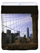Brooklyn Bridge View Duvet Cover