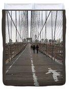 Brooklyn Bridge Walkway Duvet Cover