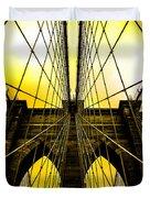 Brooklyn Bridge Yellow Duvet Cover