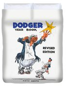 Brooklyn Dodgers 1955 Yearbook Duvet Cover