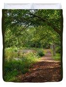Brookside Garden Walk Duvet Cover