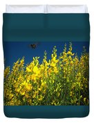 Broom And Carpenter Bee Duvet Cover