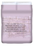 Brother's In Arms  Duvet Cover