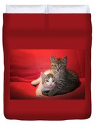 Brothers Kittens Duvet Cover