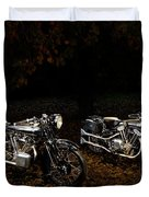 Brough Superior Ss100 And 680 Duvet Cover