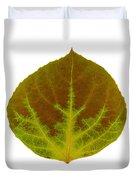 Brown And Green Aspen Leaf 4 Duvet Cover