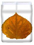Brown And Orange Aspen Leaf 1 Duvet Cover