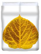Brown And Yellow Aspen Leaf 2 Duvet Cover
