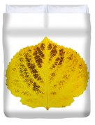Brown And Yellow Aspen Leaf 3 Duvet Cover