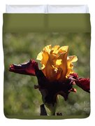 Brown And Yellow Iris Duvet Cover