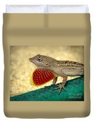 Brown Anole Duvet Cover
