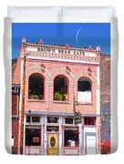Brown Bear Cafe Silverton Colorado Duvet Cover