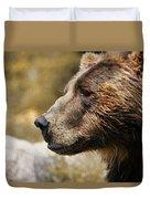 Brown Bear Golden Morning Duvet Cover