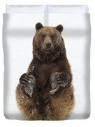 Brown Bear Holding Its Paws Germany Duvet Cover