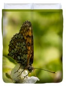 Brown Butterfly Duvet Cover