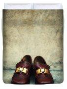 Brown Children Shoes Duvet Cover