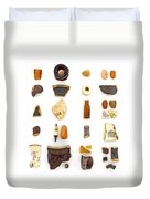 Brown China And Amber Sea Glass Duvet Cover by Jennifer Booher